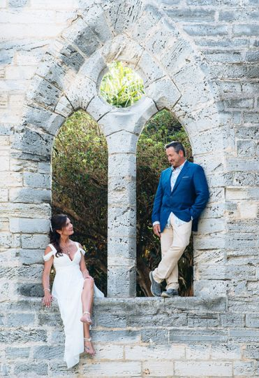 Unfinished church bermuda destination wedding