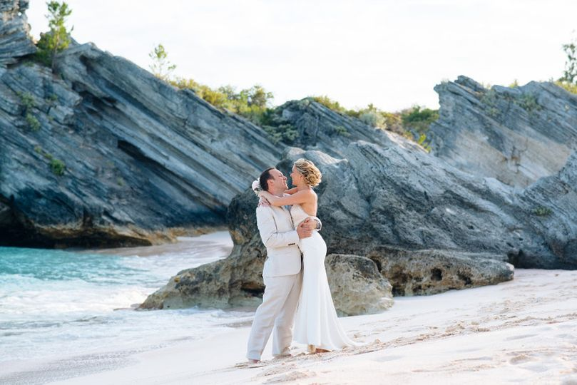 Stonehole beach bermuda destination wedding