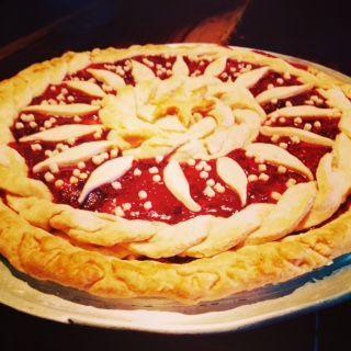 Rhubarb Strawberry Pie!
