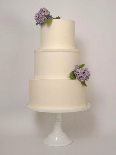 Simple lilac wedding cake