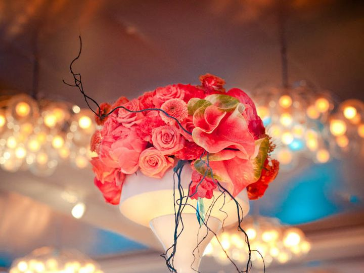 Tmx 1414165532488 Natalie Sinisgalli Stacy K Floral Coral Teal And S Rochester wedding florist