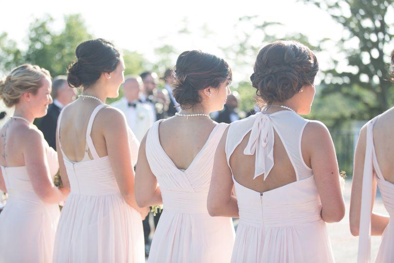 Bridesmaids' hair styles