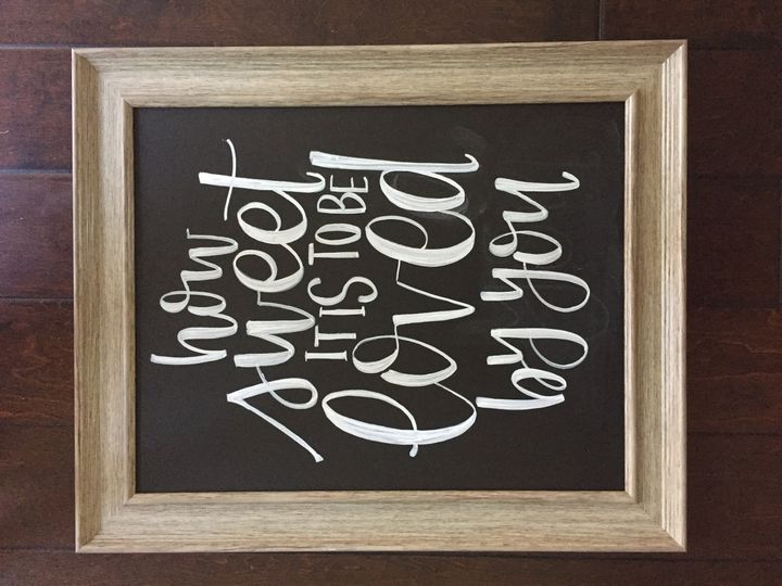 These sweet words for a wedding in College Station, Texas! Contact us at helmsdesigntx@gmail.com for...