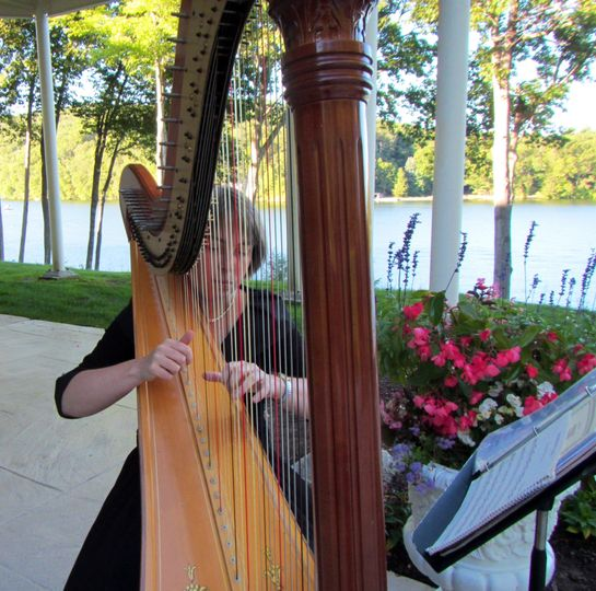 Harpist at a ceremony