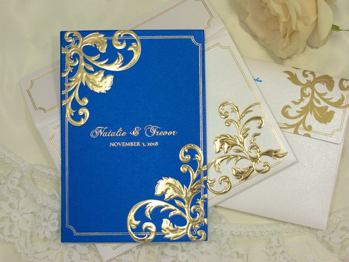 Tmx 1492917772468 Flourish 3 Wakefield, Massachusetts wedding invitation