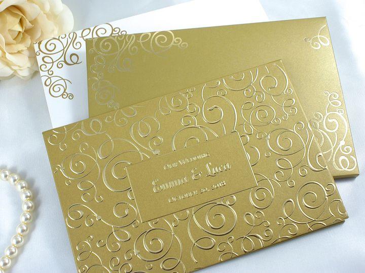 Tmx 1492917892720 Golden Glow H Wakefield, Massachusetts wedding invitation