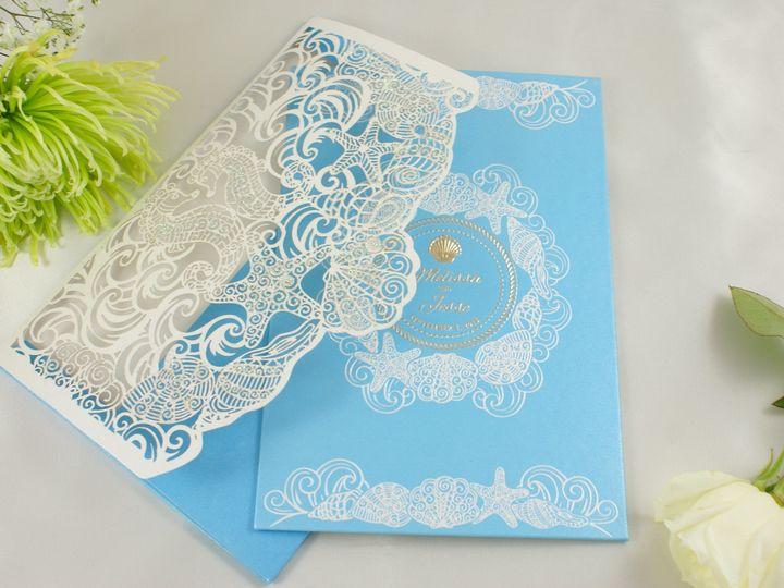 Tmx 1492917963670 Shimmering Sea F Wakefield, Massachusetts wedding invitation