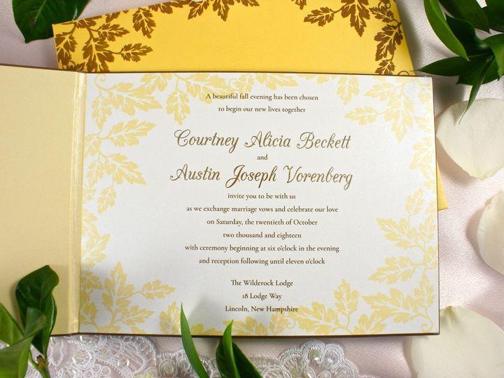 Tmx 1496708181229 Lavish Leaves By Spun Gold Creations Invitations Wakefield, Massachusetts wedding invitation