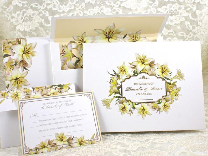 Tmx 1496881218506 Radiant Lilies F Wakefield, Massachusetts wedding invitation