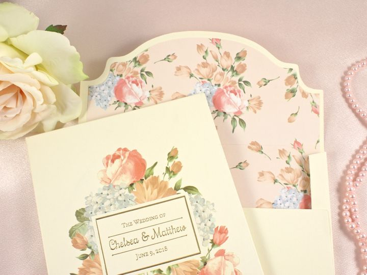 Tmx 1496881526331 Blossom Perfection D Wakefield, Massachusetts wedding invitation