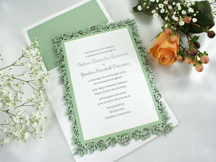 Tmx 1496882538753 Tendril Affection C Wakefield, Massachusetts wedding invitation