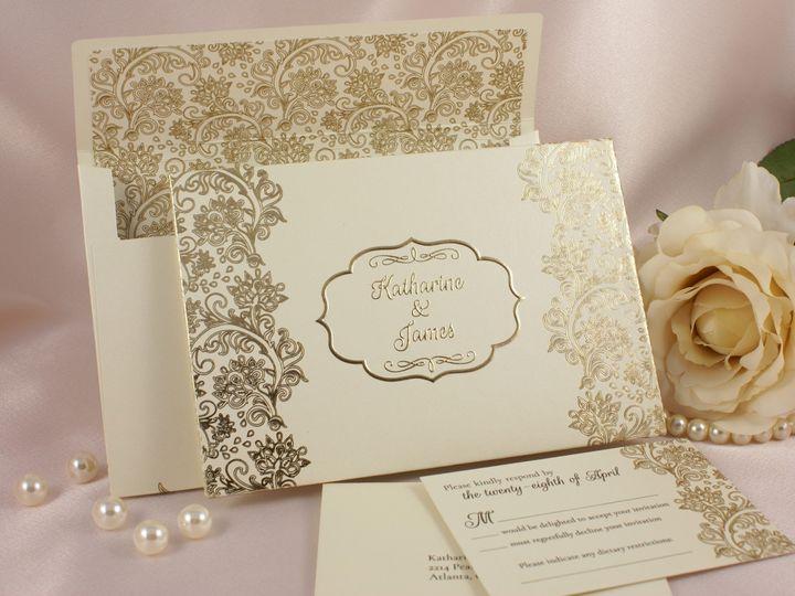 Tmx 1496882929501 Gilded Grandeur D Wakefield, Massachusetts wedding invitation