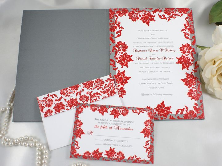 Tmx 1496883560433 Allure C Wakefield, Massachusetts wedding invitation