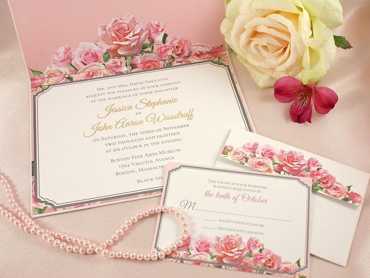 Tmx 1498404606059 Resplendent Roses C Wakefield, Massachusetts wedding invitation
