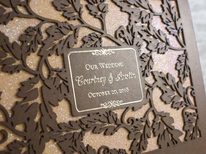 Tmx 1503796560794 Lavish Leaves B Wakefield, Massachusetts wedding invitation