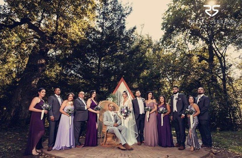 Boho Triangle Wedding Party