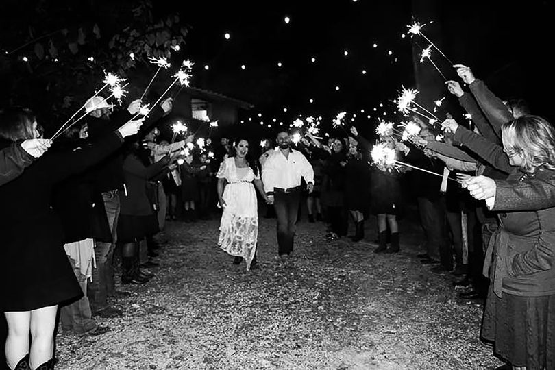 Sparkler exits are a must!