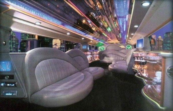Interior Super Stretch Hummer.