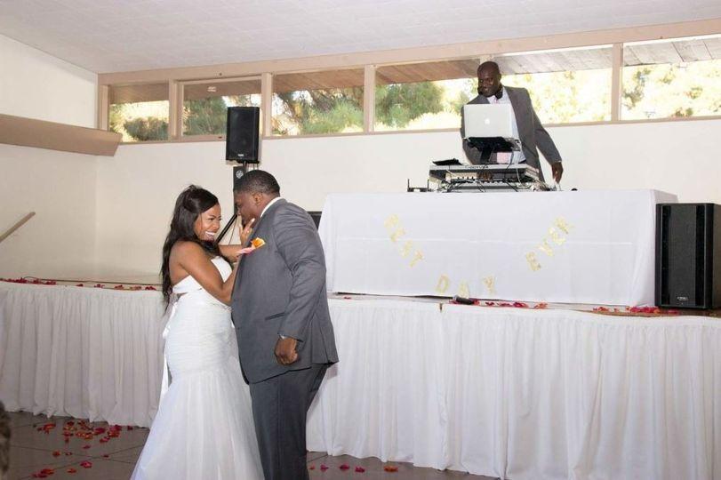 The couple's dance