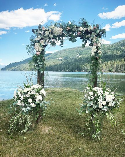 Arch Flowers, Ceremony Decor