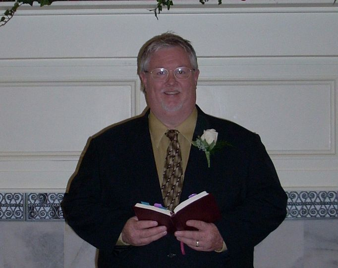 The officiant at work
