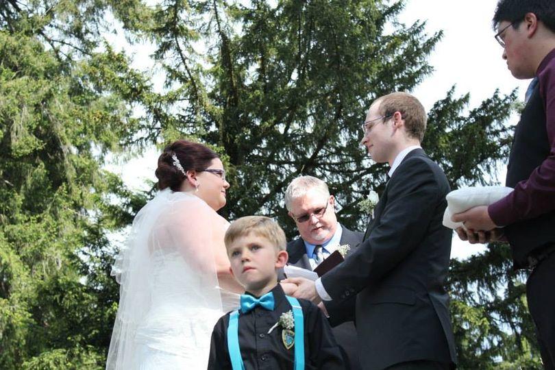 Another outdoor wedding