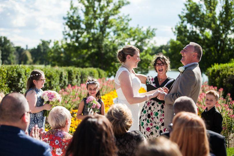 Washington Park wedding ceremony