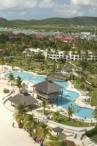Located on Antigua's best beach along the island's beautiful West Coast, Jolly Beach is just 20...