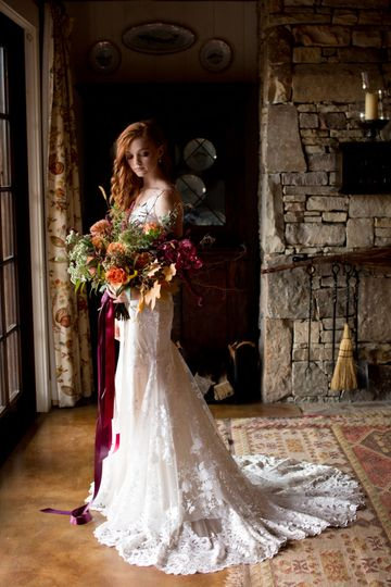 Rustic wedding dress 1