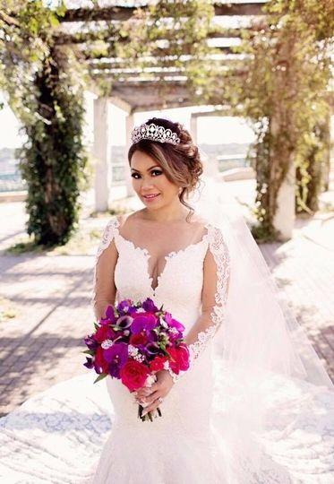 Bride at the garden