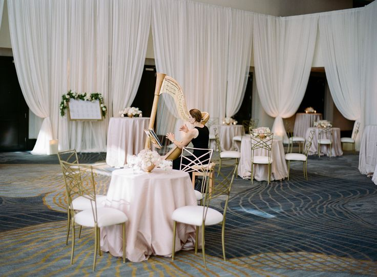Reception decor preparation