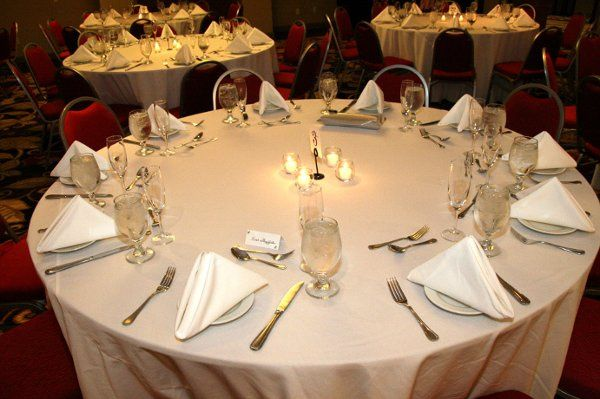 Table setting with candle