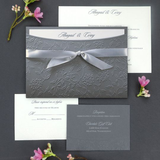 Textured wedding invite