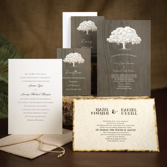 Tree themed wedding card