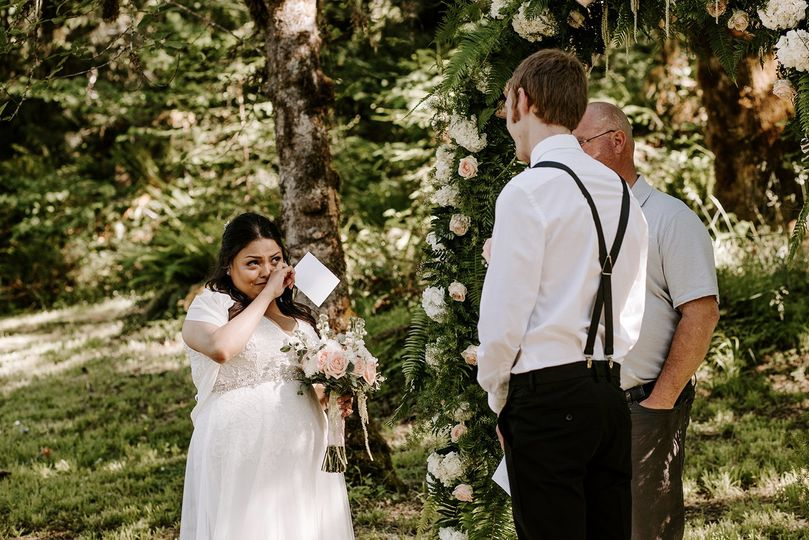 Intimate forest wedding