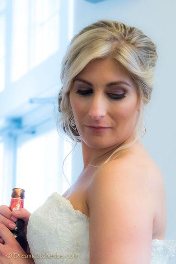 Bride prepares for entrance