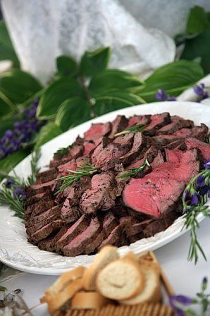 Sliced tenderloin, also used as filet mignon by restaurants, served with a Creole mustard or a light...