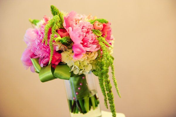 Beautiful green and pink bouquet.