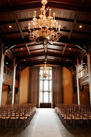 Ceremony in Tudor Ballroom