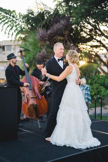 Trio at a wedding