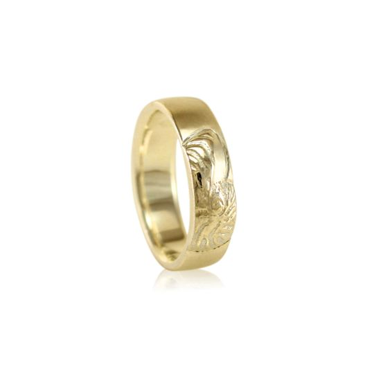 Nautilus Band 2  6mm Wide Shown in 14k Yellow Gold