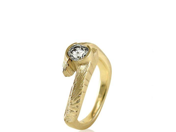 Tmx 1476472563826 Avem Wing Half Bezel Moissanite Engagement Ring1 Sebastopol wedding jewelry