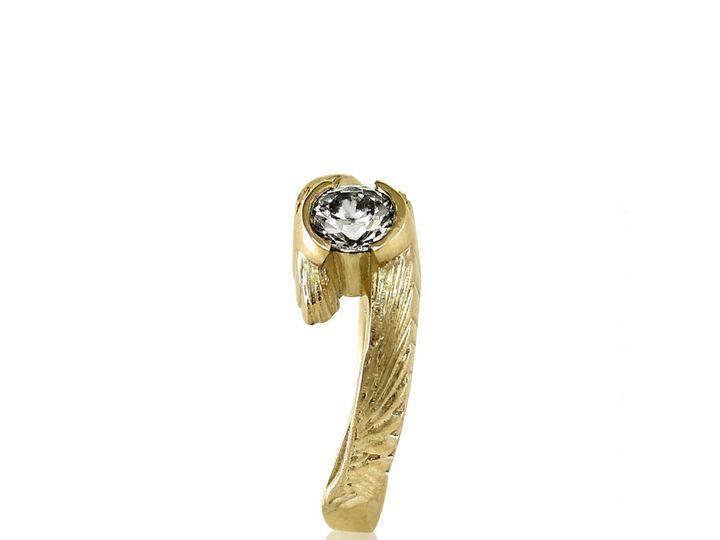 Tmx 1476472576404 Avem Wing Half Bezel Moissanite Engagement Ring2 Sebastopol wedding jewelry