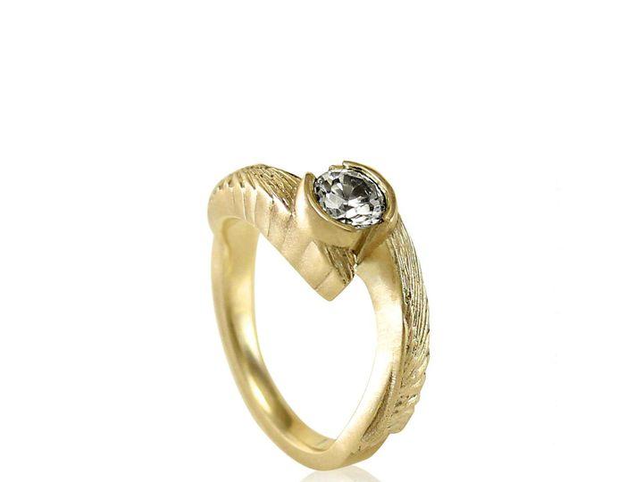 Tmx 1476472589413 Avem Wing Half Bezel Moissanite Engagement Ring3 Sebastopol wedding jewelry