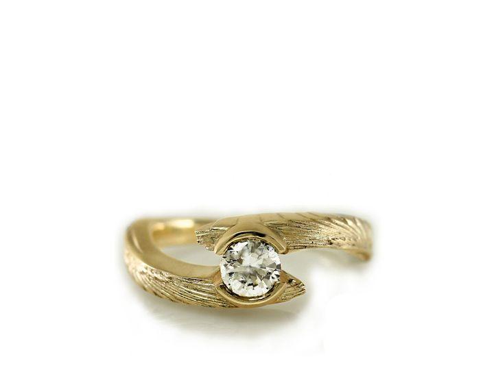 Tmx 1476472600346 Avem Wing Half Bezel Moissanite Engagement Ring4 Sebastopol wedding jewelry