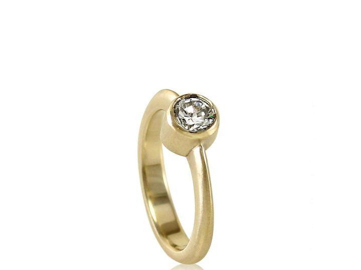 Tmx 1476472706474 Classic Tapered Full Bezel Moissanite Engagement R Sebastopol wedding jewelry