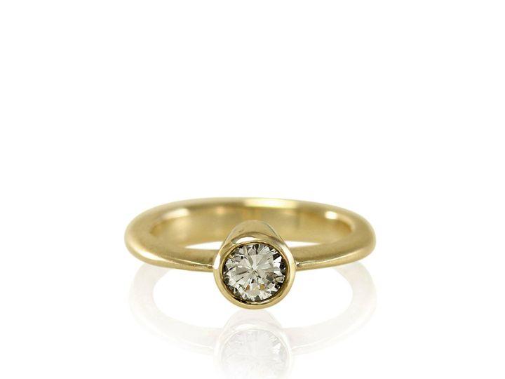 Tmx 1476472727478 Classic Tapered Full Bezel Moissanite Engagement R Sebastopol wedding jewelry