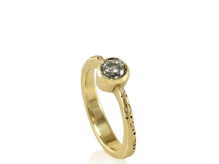 Tmx 1476472764751 Deer Hoof Moissanite Engagement Ring3 Sebastopol wedding jewelry