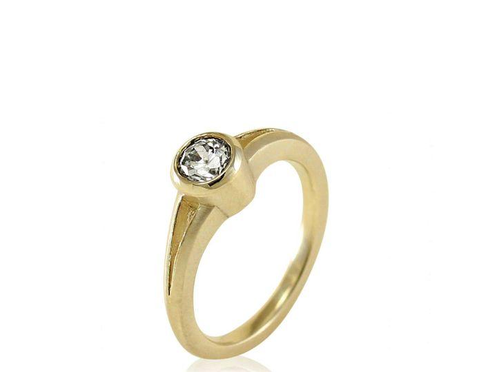 Tmx 1476472785034 Split Shank Full Bezel Moissanite Engagement Ring1 Sebastopol wedding jewelry