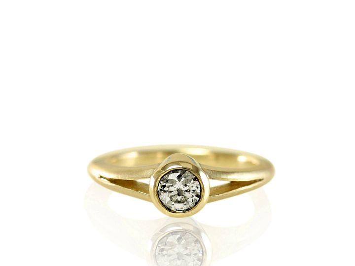 Tmx 1476472813570 Split Shank Full Bezel Moissanite Engagement Ring3 Sebastopol wedding jewelry